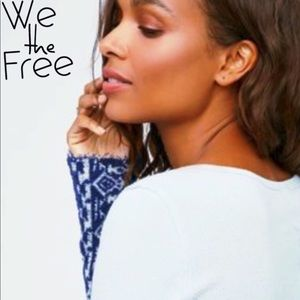 We The.. Free People Art School Cuff Thermal Top