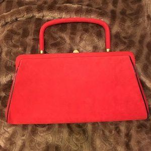 STUNNING vintage red Stylecraft Miami clutch great