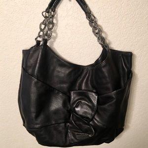 TOSCA BLU. Beautiful Black Leather Handbag!!