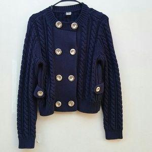 J. Crew Dark Blue Cardigan Sweater