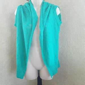 Anthropologie silence + noise open knit cardigan
