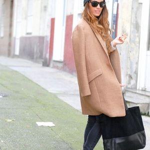 Zara XS TAN/LIGHT CAMEL COAT