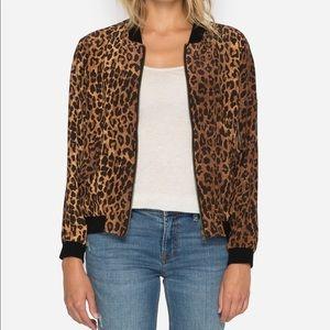 Johnny Was Leopard Bomber Jacket