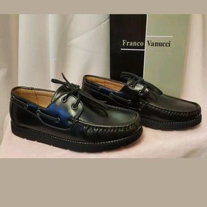🚨🚨🚨Franco Vannuci Lace-up Boat Shoes 8.5