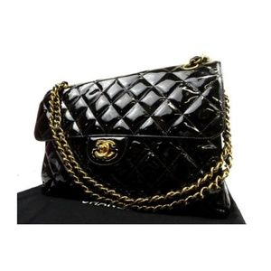 Chanel Double Jumbo Quilted Flap 223006 Shoulder