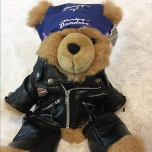 Harley Biker Bear in Leathers NWT