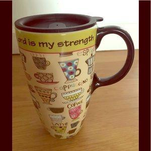 Ceramic coffee mug with handle