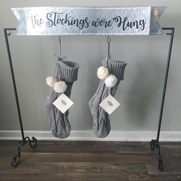 Gray Christmas Stockings.Nwt Gray Ugg Cable Knitt Christmas Stocking Nwt