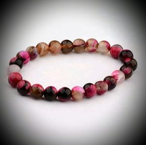 Multicolored Natural Stone 8mm Bracelet