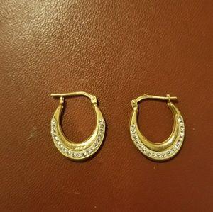 925 diamond hoops