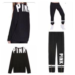 NWT VS PINK Campus Crew & Campus Zipper Sweats