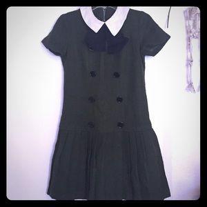 🖤💚 vintage schoolgirl dress! Pleated skirt 🖤