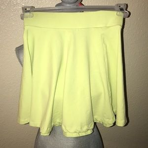 Electric yellow skater skirt size XS