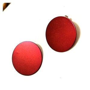 🆕 red huge earrings