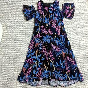 Maeve Blue Floral Elia Cold Shoulder Dress