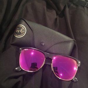 Pink mirror lens limited edition ray ban wayfarer