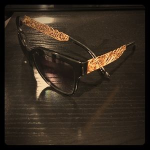 Dolce and Gabbana sunglasses gold and black