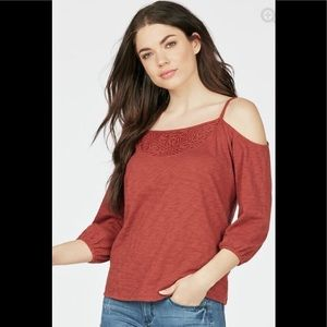 Just Fab cold Shoulder Top