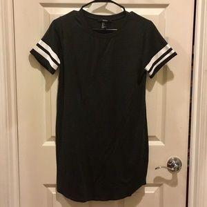Dark Gray T-shirt Dress