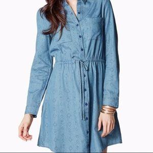 denim shirt dress, size XL