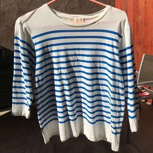 Zara nautical striped 3/4 sleeve tshirt