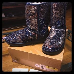 Ugg Australia sequin bling boots size 9 like new