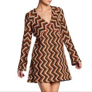 Free People Chevron Wool Blend Sweater Dress