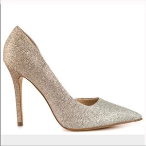 GUESS sparkly gold & silver glittery ombré pumps