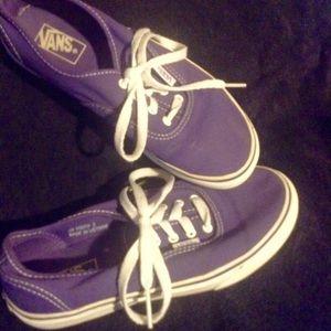 Purple Girls Vans!
