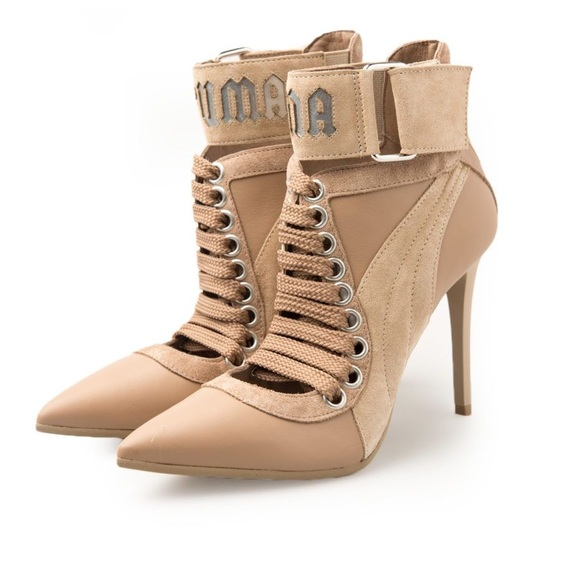 FENTY PUMA RIHANNA sneaker heel nude lace up Boutique