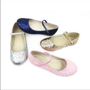 Pink rock glitter Mary Jane