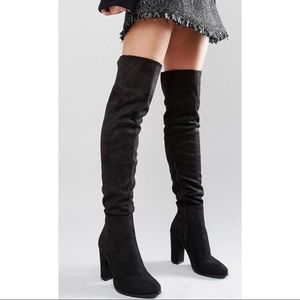 DAISY STREET  ||  Black Heeled Over-the-Knee Boots