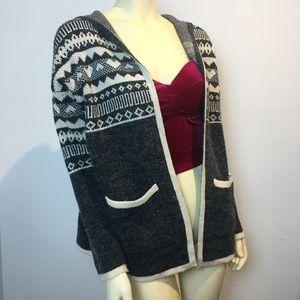 Fashion Nova Cozy winter sweater gray sz m/l