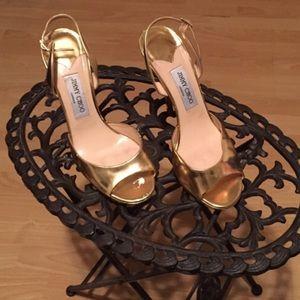 Gold Jimmy Choo Heels