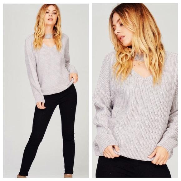 Sweaters - •LAST ONE• Chenille Choker Neck Sweater
