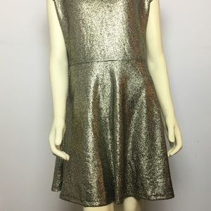 Gold Sparkly Holiday Cocktail Party Dress NWT sz L