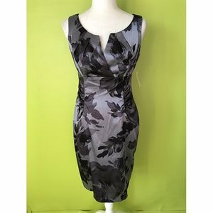 Dressbarn Career Formal Gray Sheath Dress Sz 6