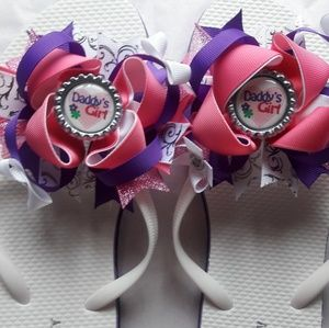 Hand made hairbow flip flops