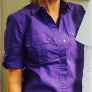 Cute button up camp shirt!