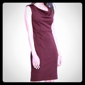 🆕 Ann Taylor Draped Ponte Sheath Dress