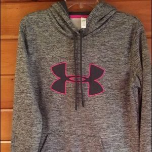 Under Armour Hoodie Gray with pink medium