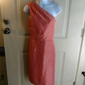 Dress Barn pink one shoulder cocktail party dress
