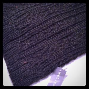NWT. Wet Seal Cable Knit Scarf  7 X 72 inches