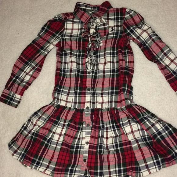 548f5fd7c 💥Ralph Lauren Lil girls plaid ruffle dress SZ 6💥.  M_5a196b88713fdef9db0073d4