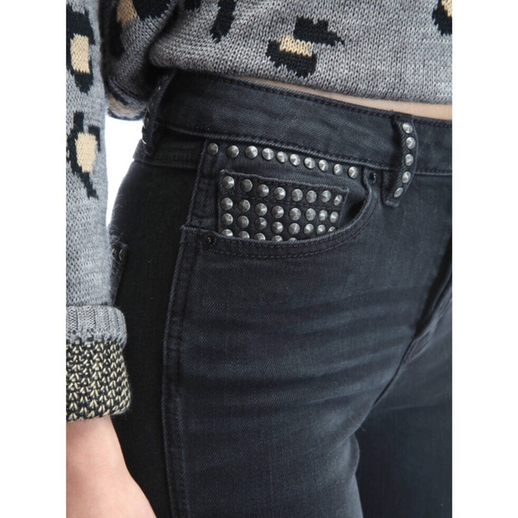 Free People Denim - NEW Free FP Studded High Rise Ripped Skinny Jeans