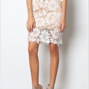 Sans Souci White Cut Out Floral Lace Skirt Size XS