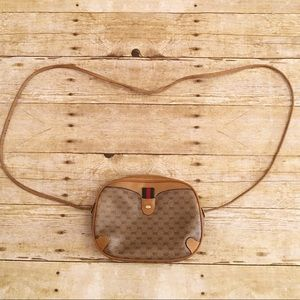 Vintage Gucci crossbody purse, brown