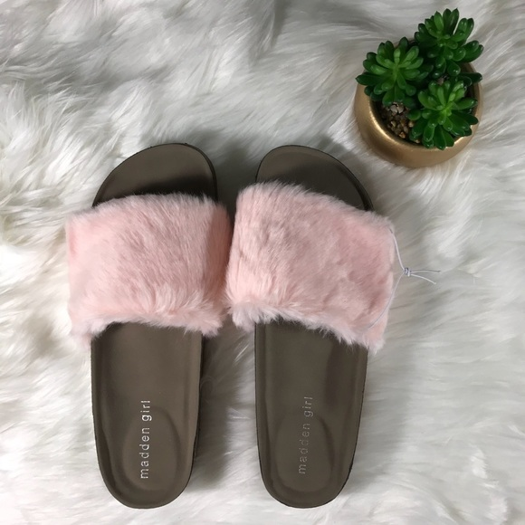 5fb7c9792c0 Madden Girl Shoes - Madden girl pink fuzzy slides