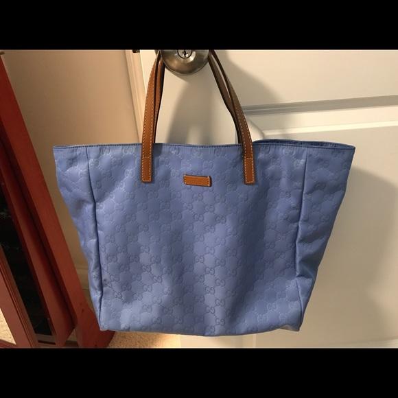 37e59e30c992 Gucci Bags | Ssima Nylon Tote Bag Sold | Poshmark