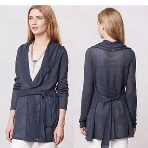 Anthropologie Cetera Navy Wrap Cardigan